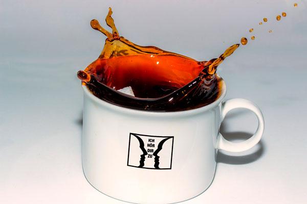 Tasse mit dem IHDZ Logo