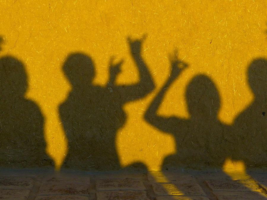 """Die Arbeit der Montags Gruppe zum Thema: Schatten/unsere Schatten/unsere """"Dämonen"""""""