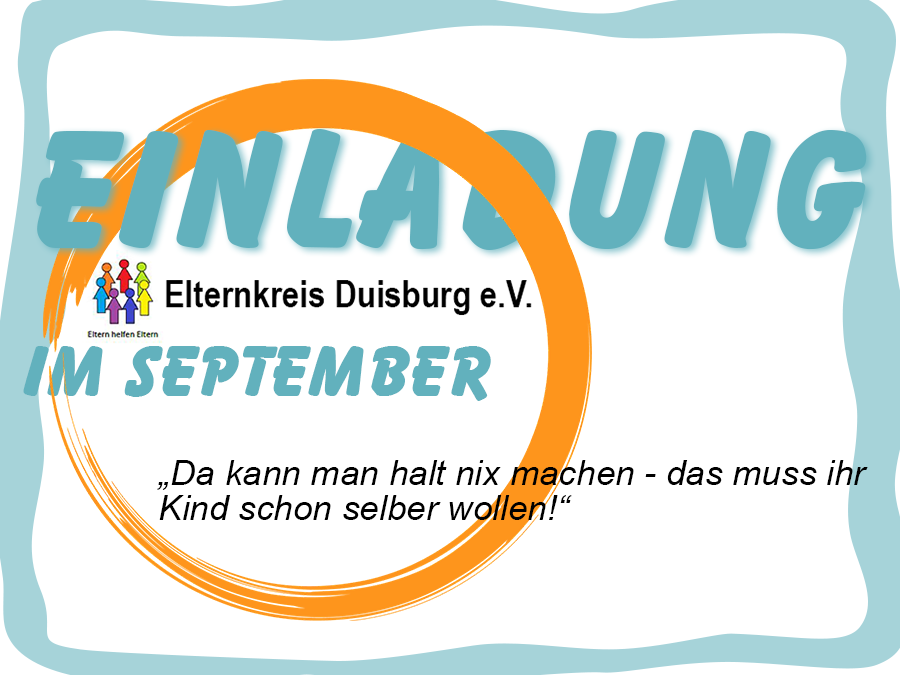 Elternkreis Duisburg e.V. läd ein